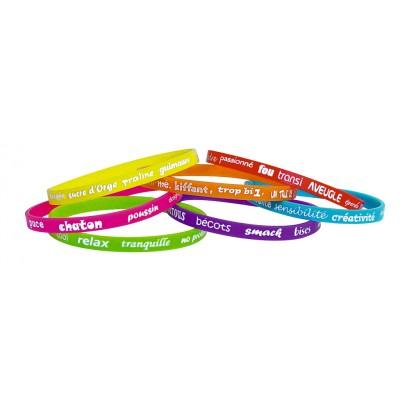 Set 7 bracelets mots