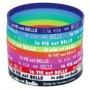 Bracelet Silicone La VIE est BELLE