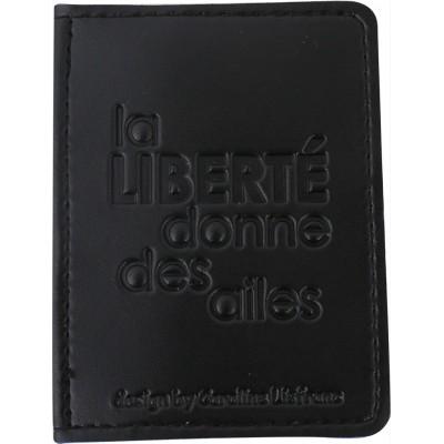Porte-cartes bicolore noir